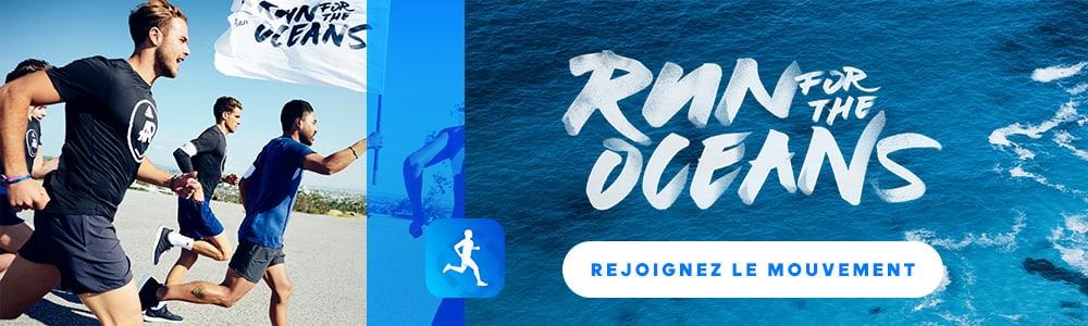 affiche de la course à pied run for the oceans