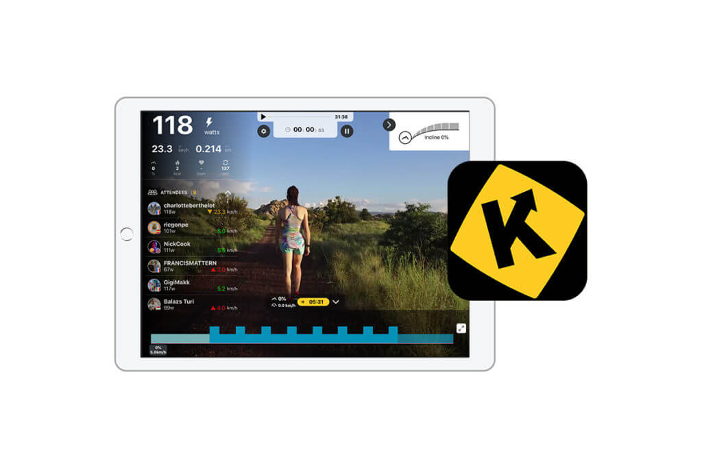 Kinomap can be connected with the adidas Running app