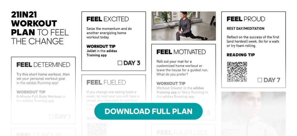 21 Days in 2021 – Download the Free Workout Plan to Feel the Change 2