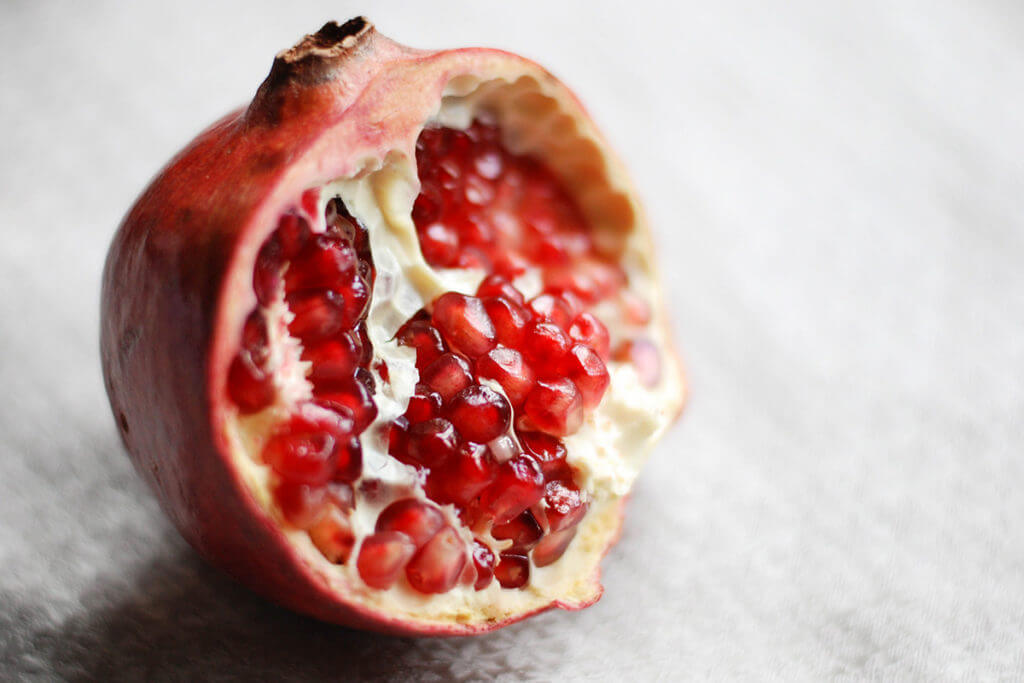 Close up pomegranate