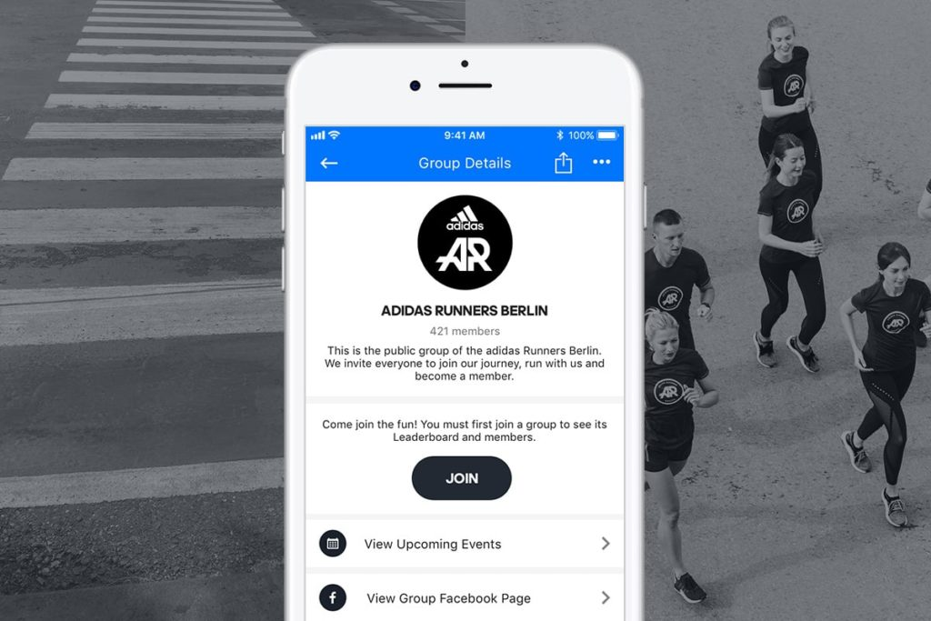 Adidas Runners in Runtastic App