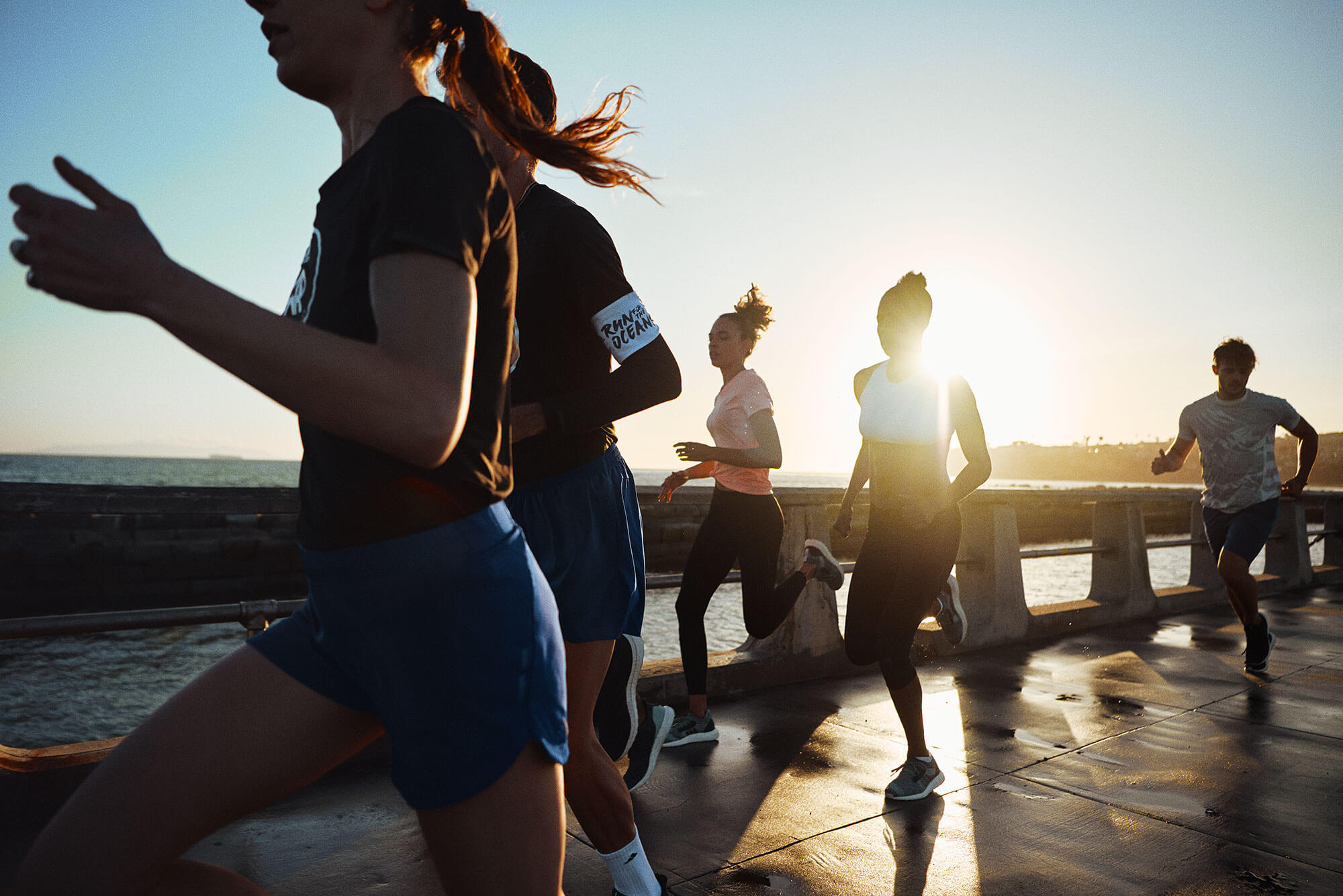 A group of young people join Run For The Oceans