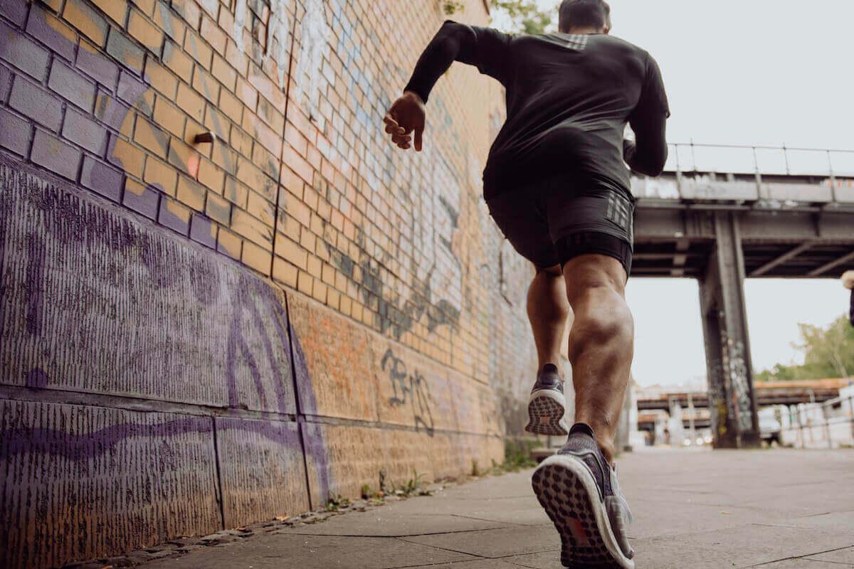 A man running the city