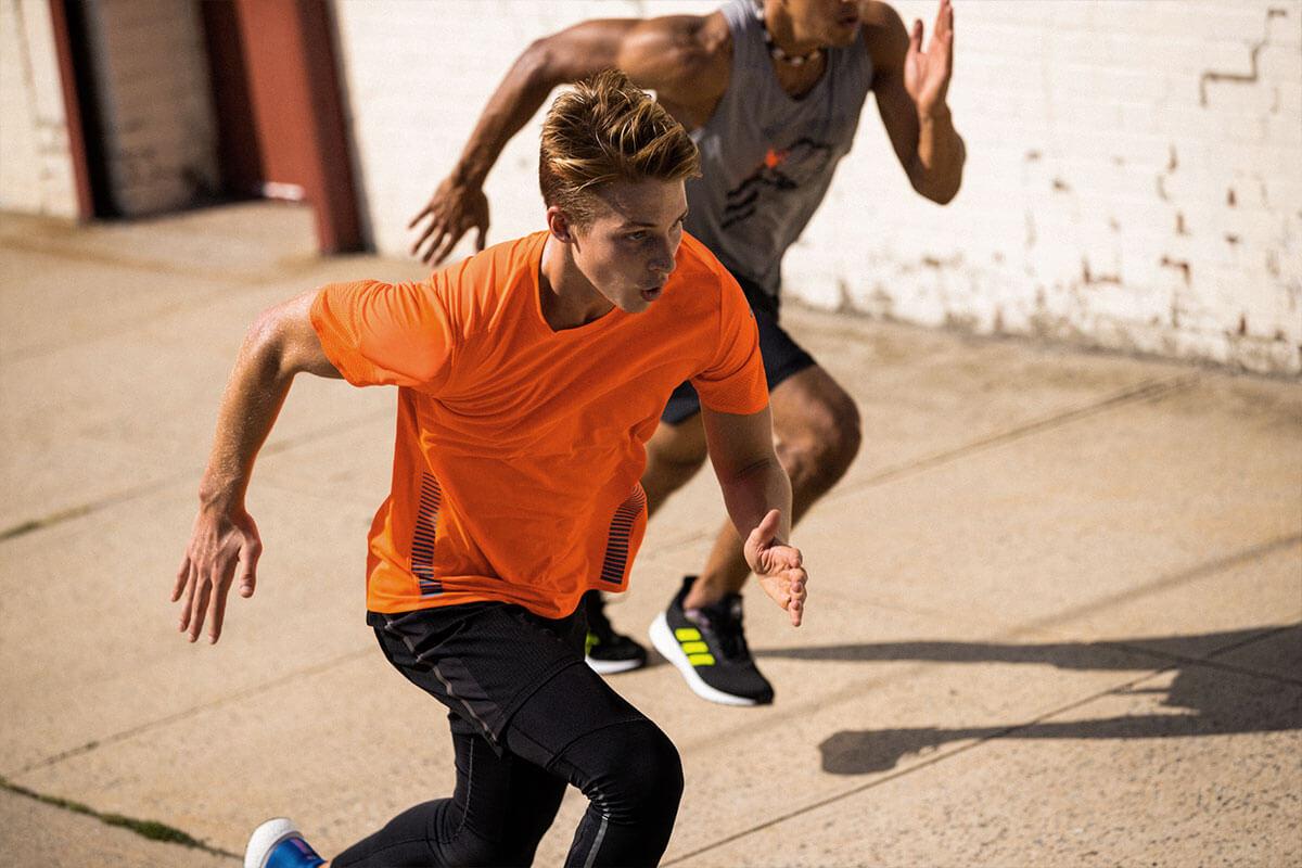 men running on the street