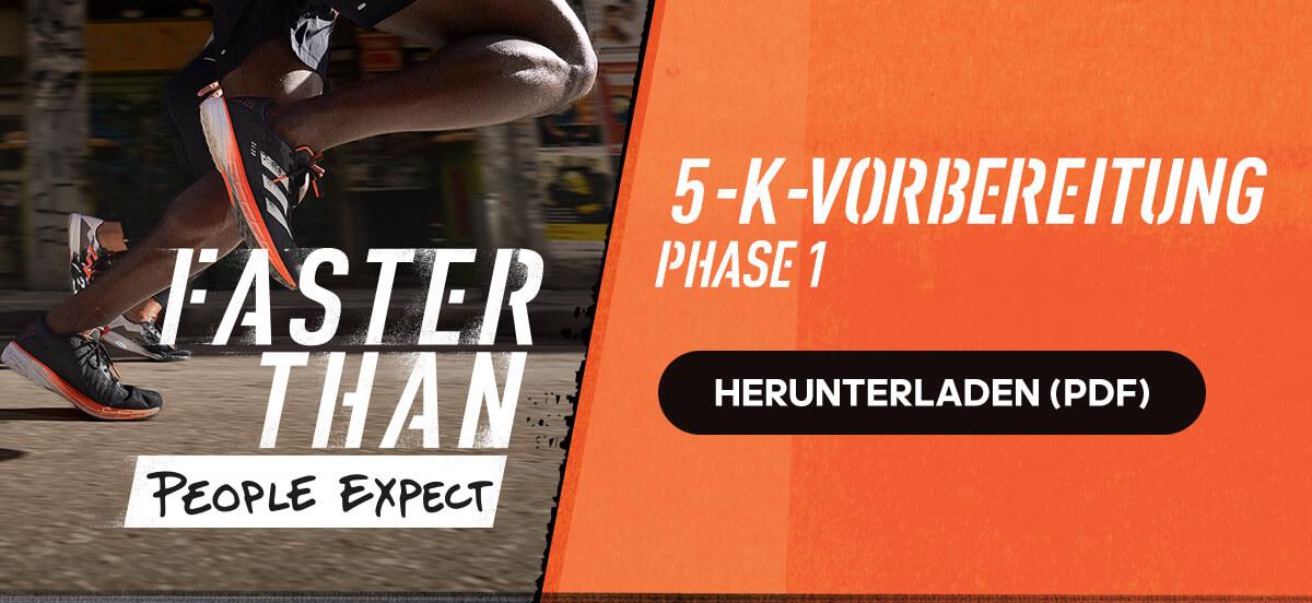 Kostenloser adidas Runtastic Lauftrainingsplan: Vorbereitung auf den 5-km-Lauf