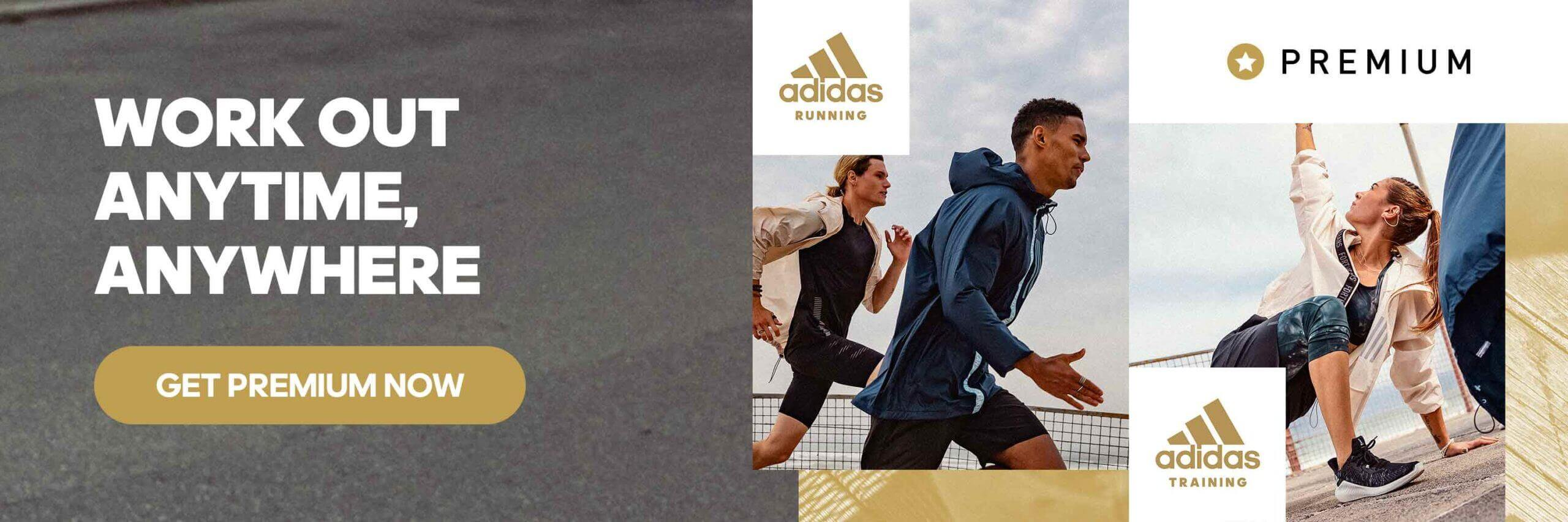 premium blog in text banner en scaled Get Fit with an adidas Runtastic Premium Membership    Are you ready to build healthier habits and lead a fit lifestyle? No matter your goals, with the adidas Runtastic apps and Premium Membership, you'll find tips from experts, loads of motivation, as well as unlimited individual training plans both in the adidas Training and Running app. Choose your ideal plan, get started, and reach your goals one step at a time! Fitness