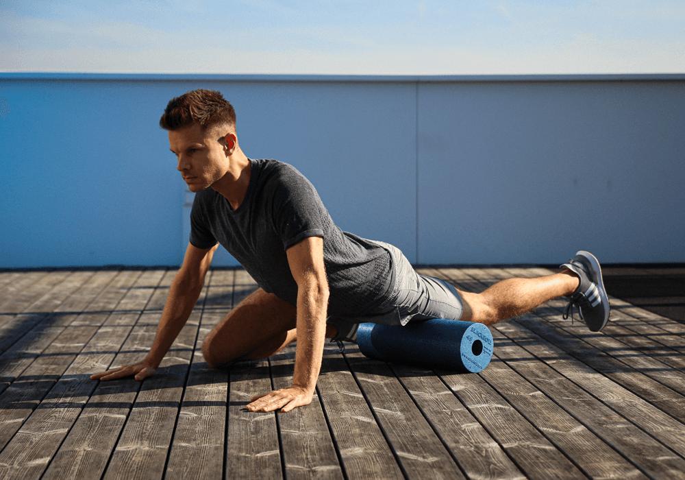 foam roller: esercizi di stretching per il quadricipite