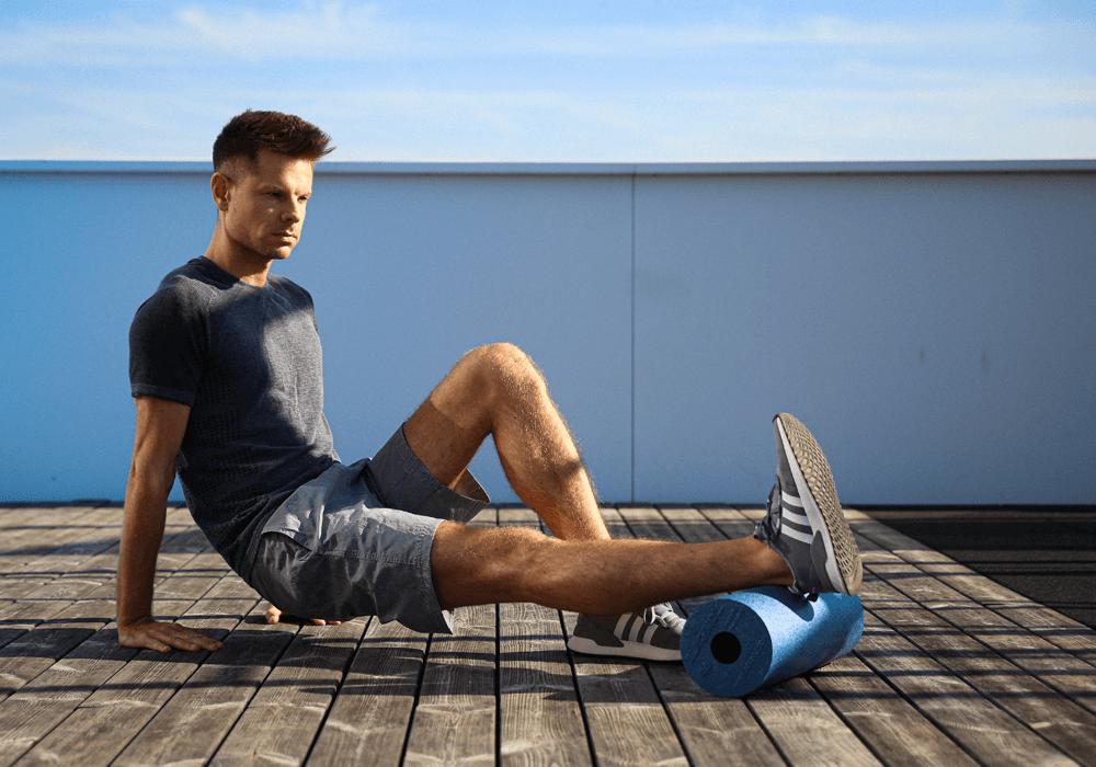 foam roller: esercizi di stretching per il polpaccio