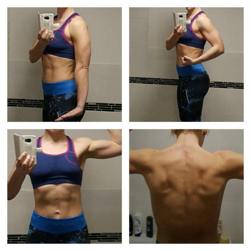 Abbildung von Jennys Körper im Trainingsgewand.