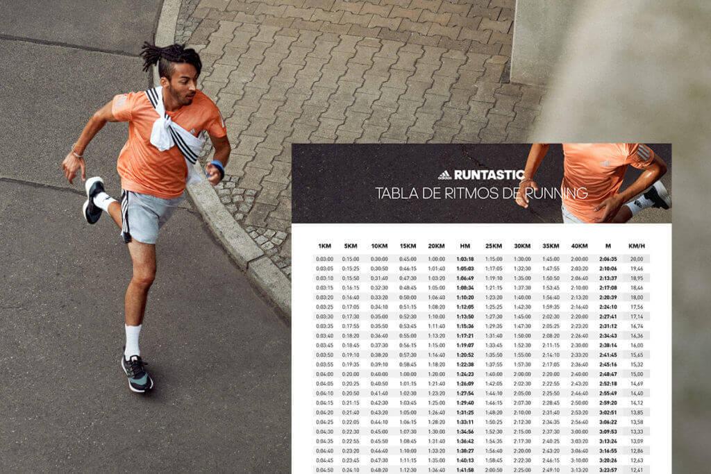 Tabla de ritmos de carrera para una media maratón