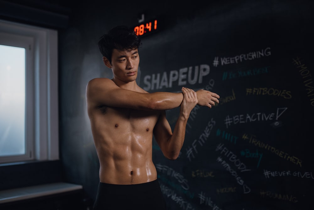 Man sweating after workout
