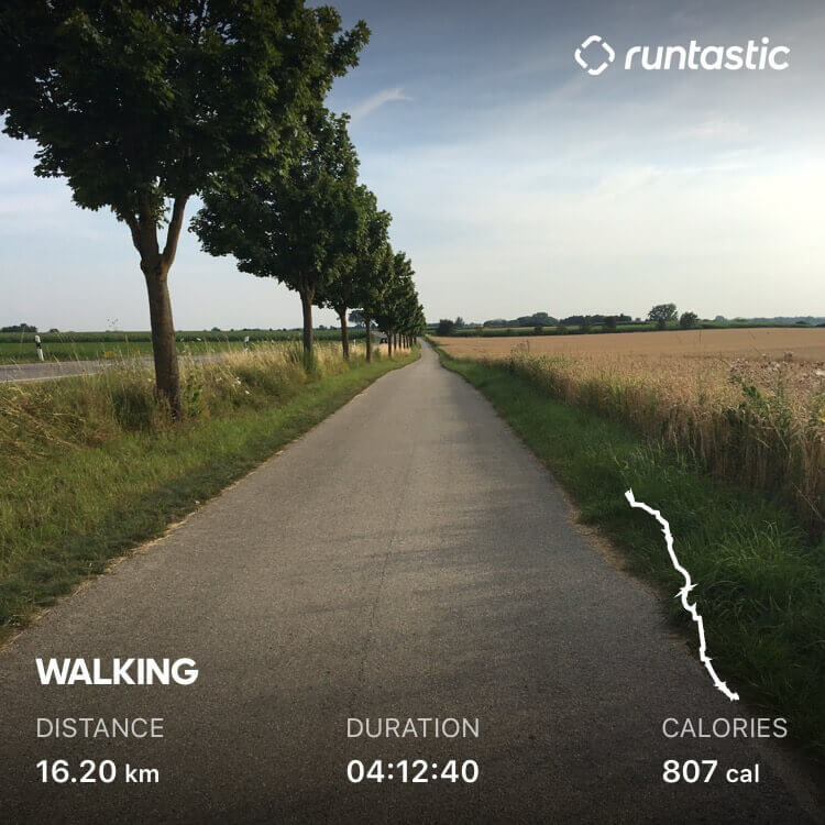 Walking trackt with the adidas Running app