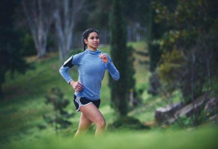 Woman running outdoor