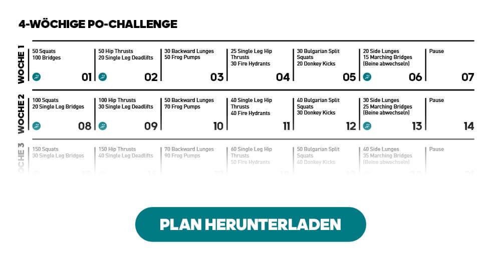 Lass die 30-Day Squat Challenge sein – mach lieber diese 4-wöchige, gratis Po-Challenge. Jetzt Plan herunterladen!