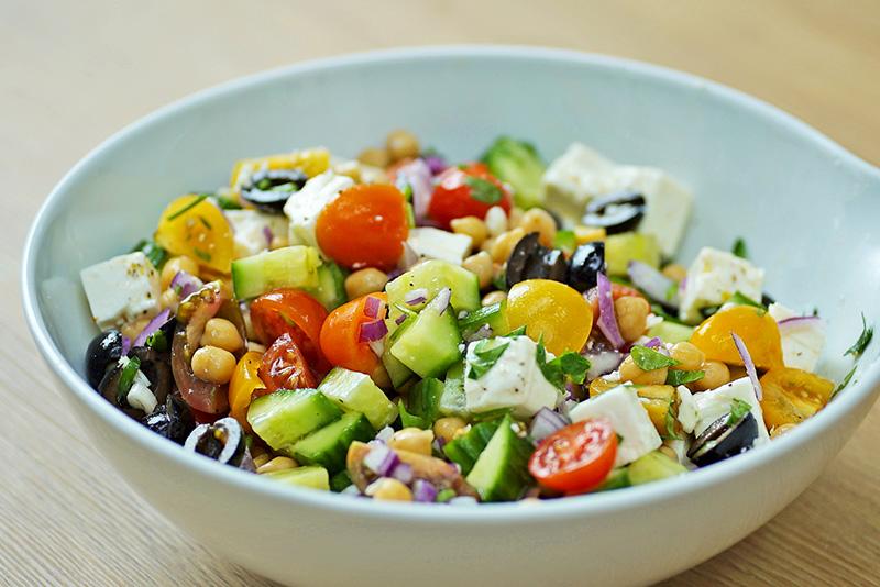 Greek Salad Recipe Chickpeas