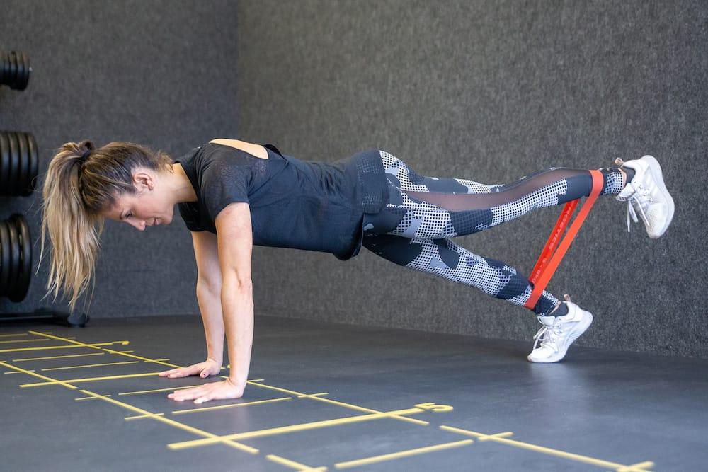 High Plank Leg Lift RB