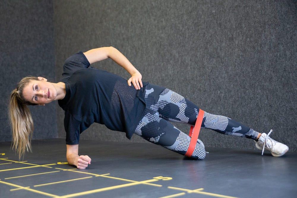 Modified Side Plank Leg Lift RB