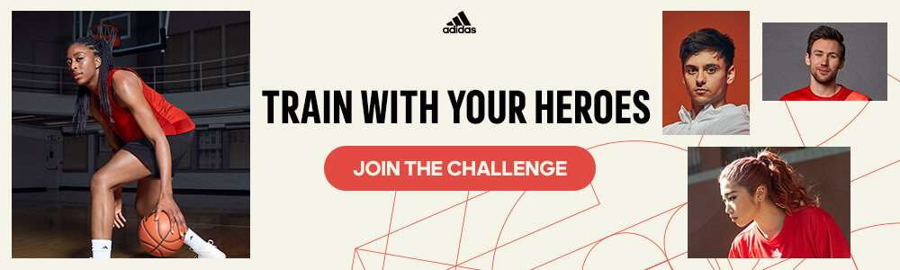 adidas Running Train With Your Hero banner