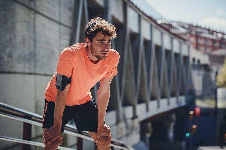 Man after a run