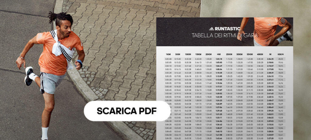 scarica la tabella dei tempi per la mezza maratona