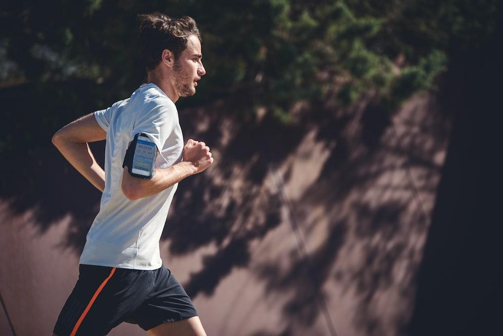 Man running outdoors