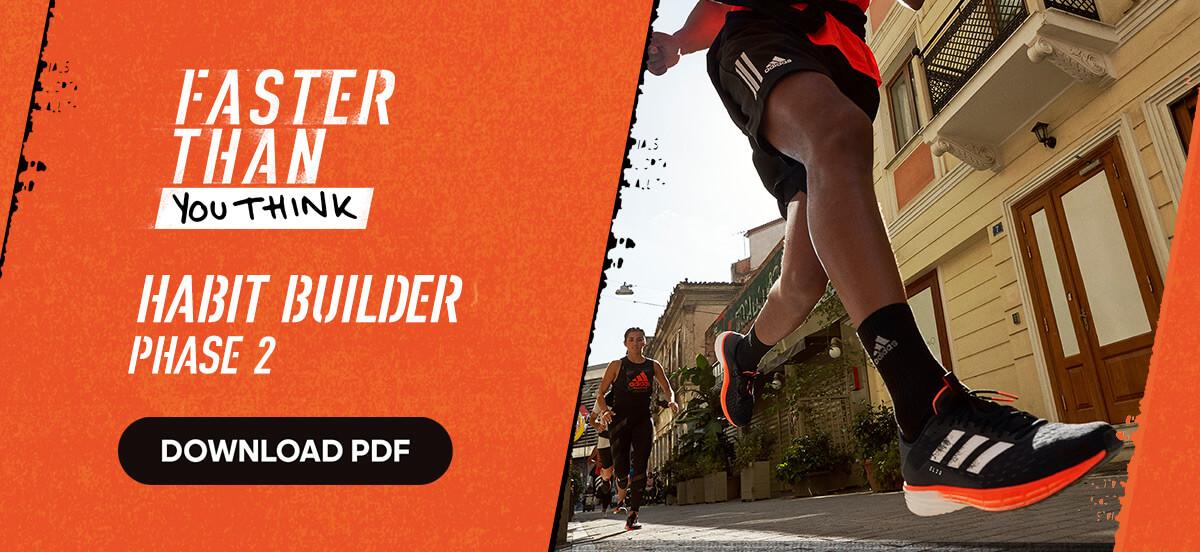 adidas Runtastic Free Running Training Plan: Habit Builder
