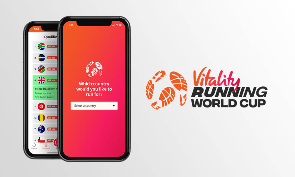 Vitality Running World cup mobile app