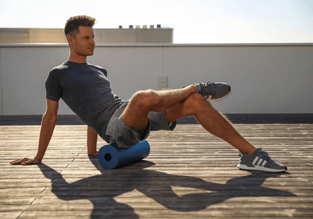 Masaje con rodillo de espuma: músculo piriforme