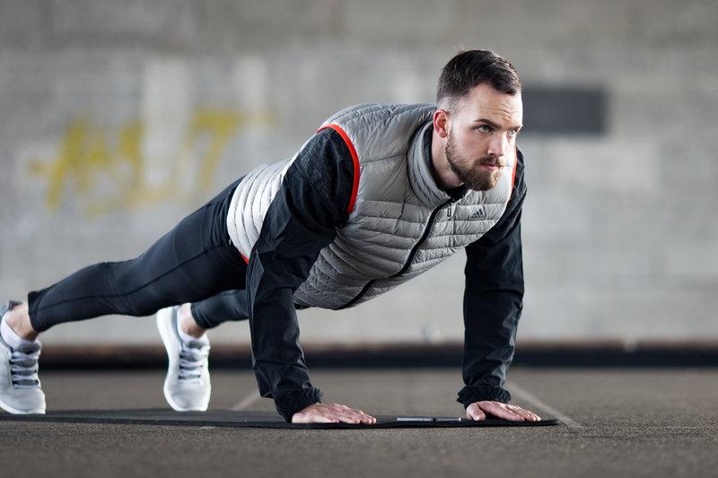 Man doing a plank