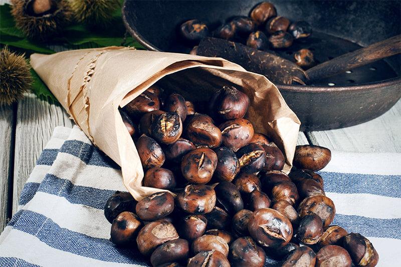 Alimentos de octubre: castañas