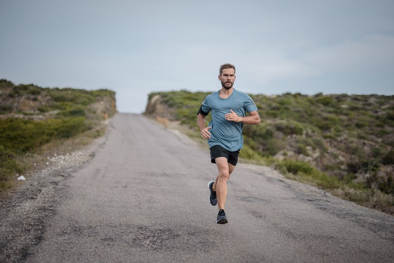 Young man running outdoor
