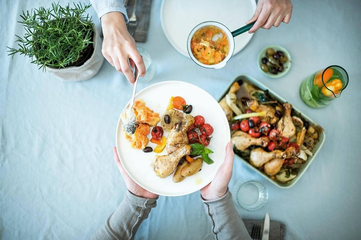 Pollo con verdure al forno