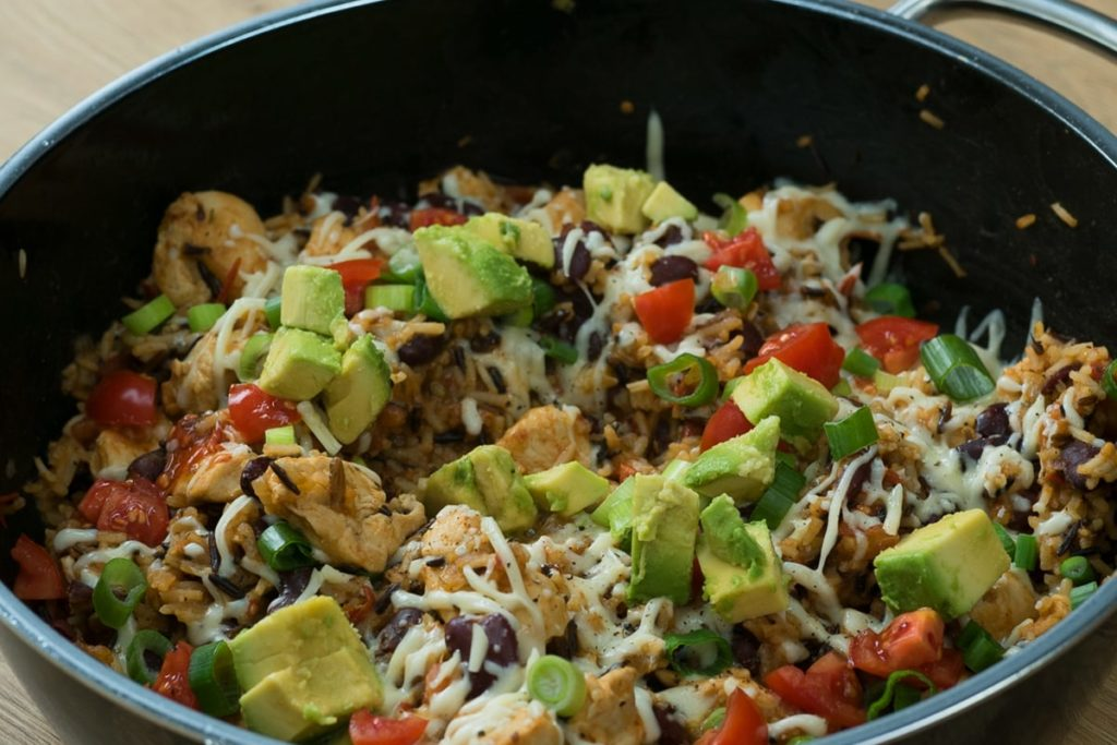 Burrito Bowl mit Huhn