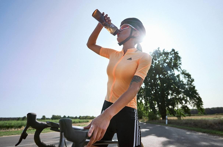 woman hydrating