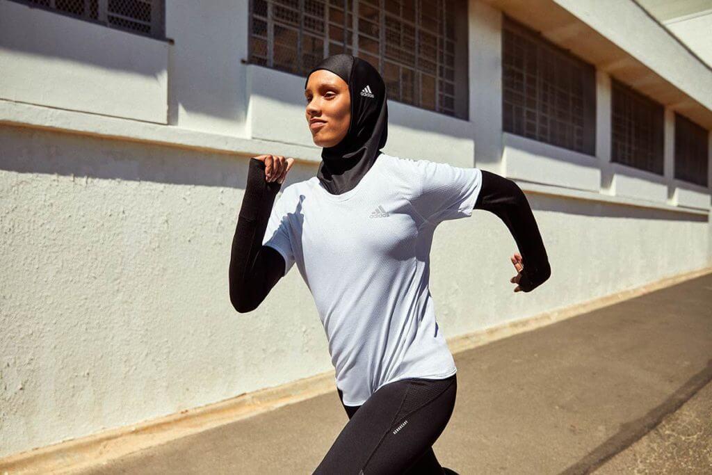 Läuferin beim Wettkampf