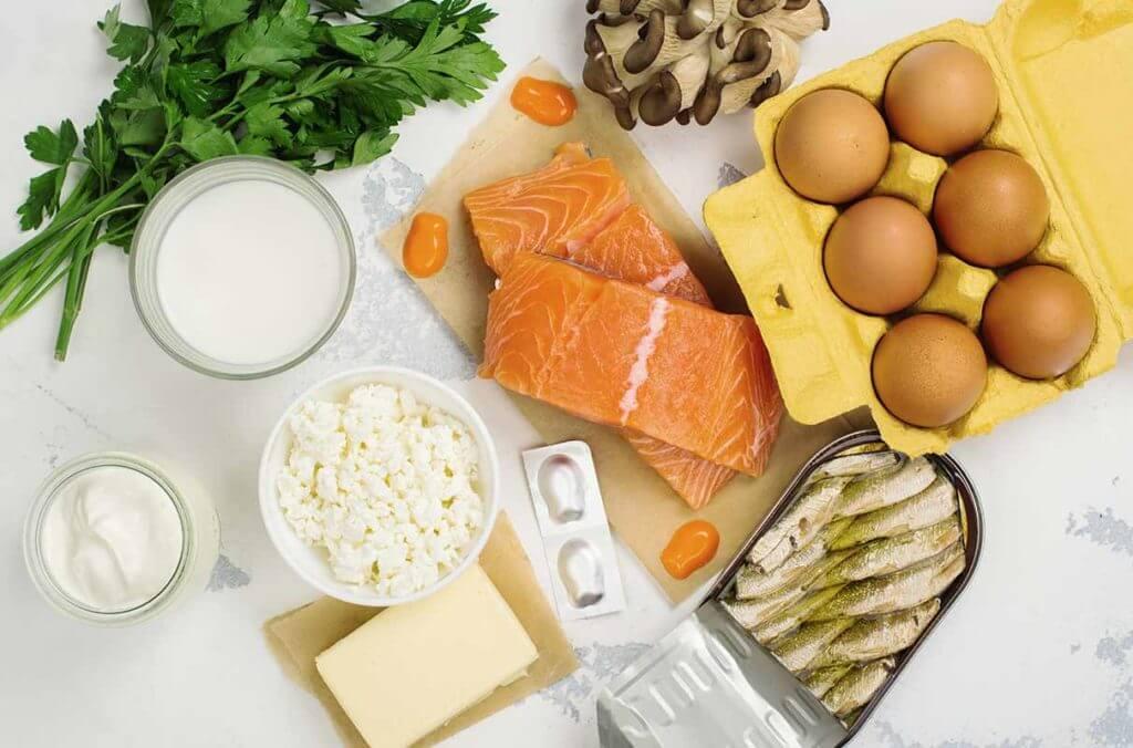 uova, pesce, latticini e funghi sono ricchi di vitamina D