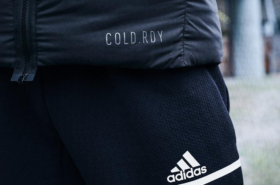 Close up of Adidas cold.rdy clothes