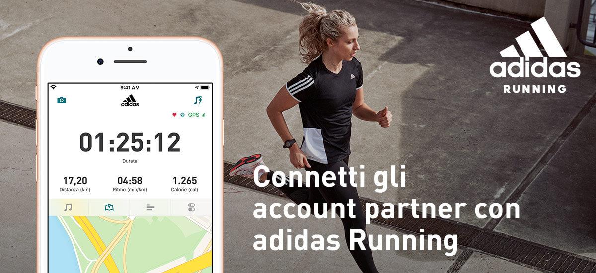 connetti gli account partner con adidas Running