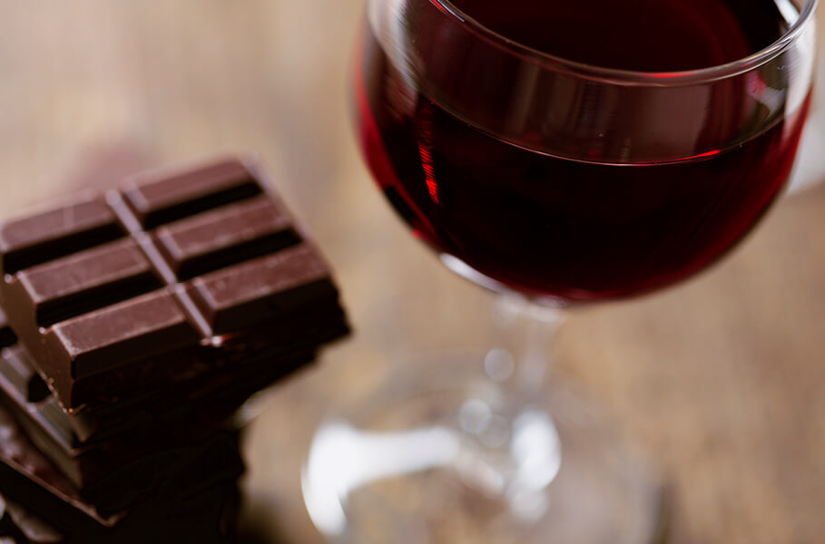 Chocolate and wine can be a common cause for headache