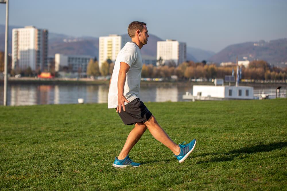Man doing Single Leg Squats