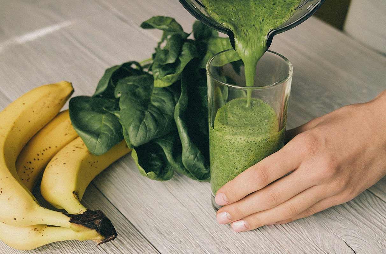Smoothie spinaci e banana