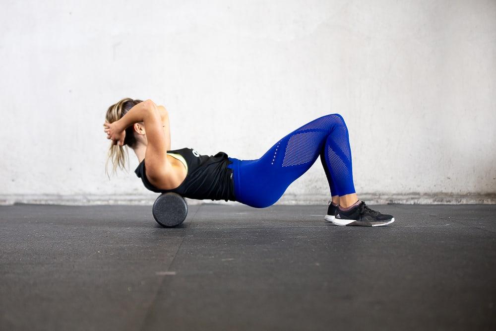 ejercicio con rodillo de espuma