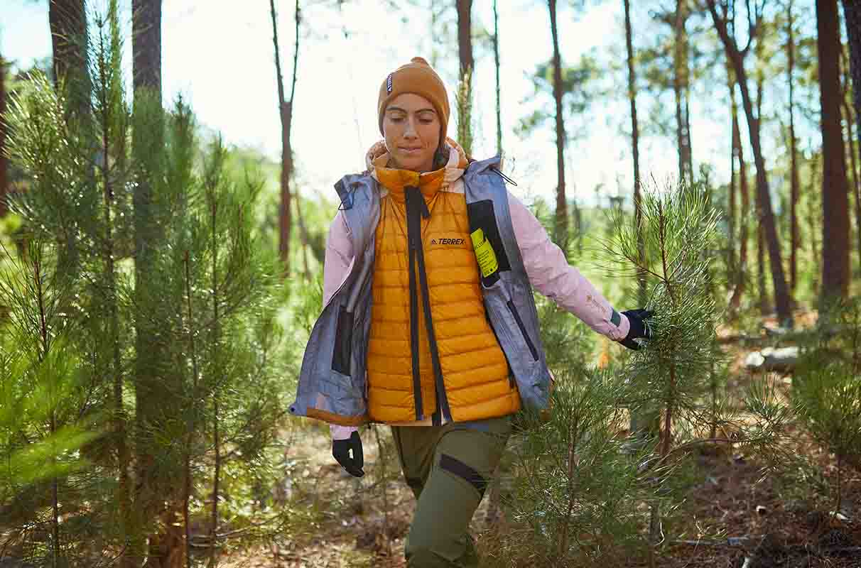 walking in the woods with adidas terrex vests