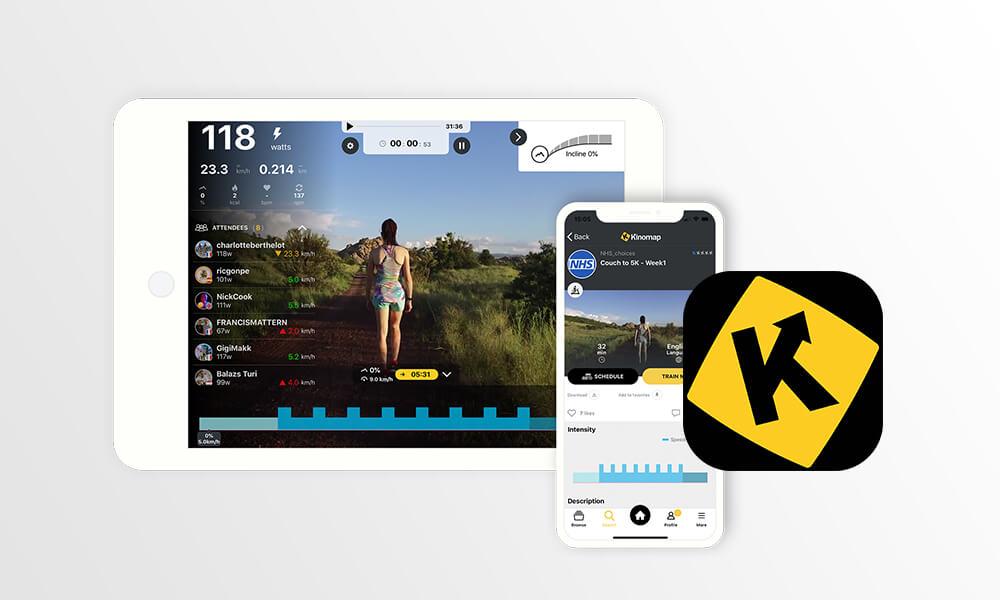 Captura de tela do aplicativo Kinomap
