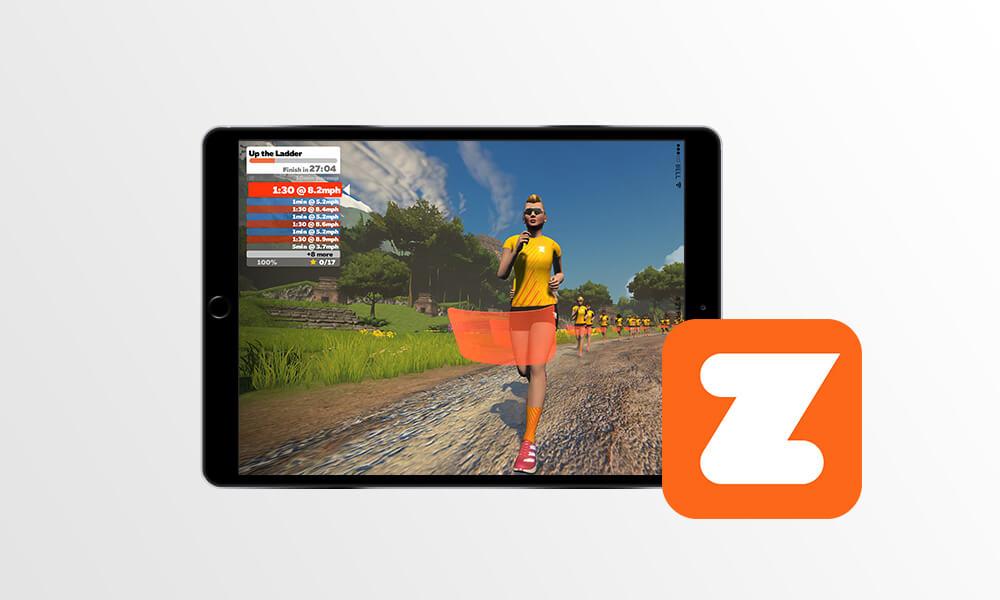 Captura de tela do aplicativo Zwift