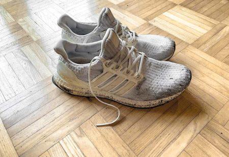 Vieilles chaussures de running