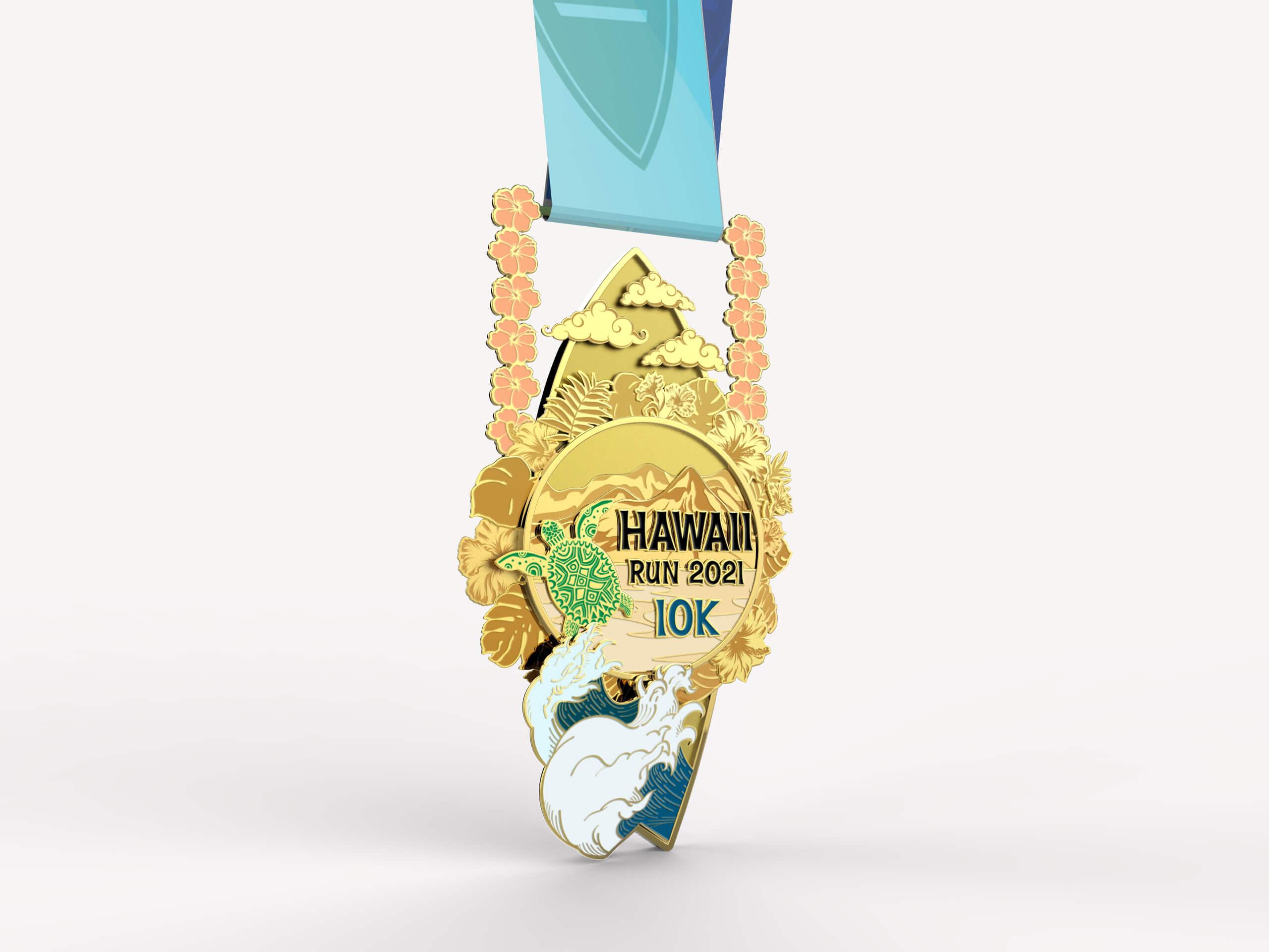 Medalha de 10K da prova VirtualRunners
